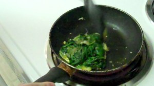 Spinach eggs cooking Breakfast